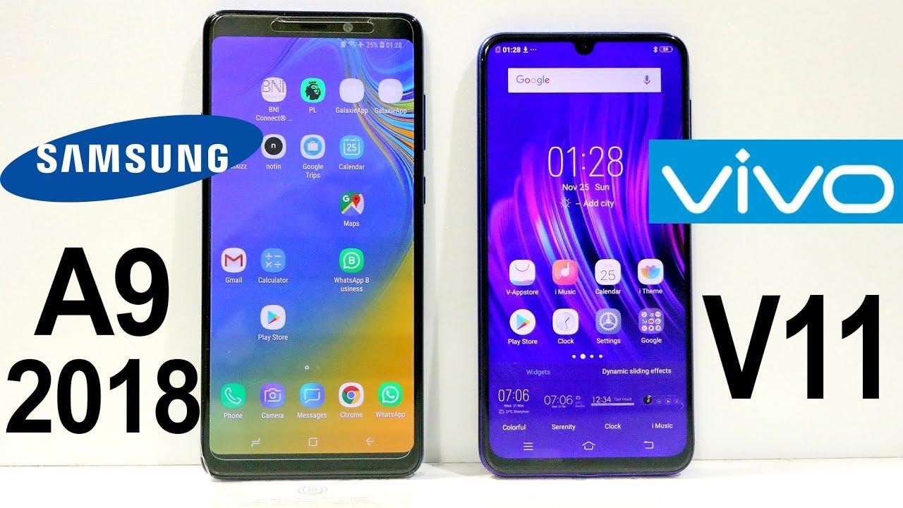 Samsung Galaxy A9 2018 Vs Vivo V11 Speed Test Youtube