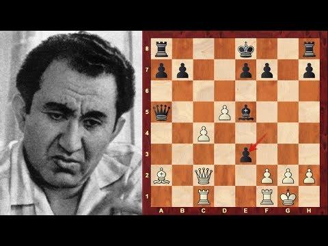 Tigran Petrosian Amazing Immortal Chess Game! vs Bobby Fischer - Candidates Match (1971) : Gruenfeld