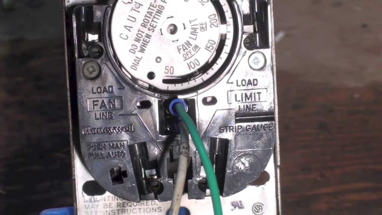 Honeywell fan and limit switch with preheater - YouTube