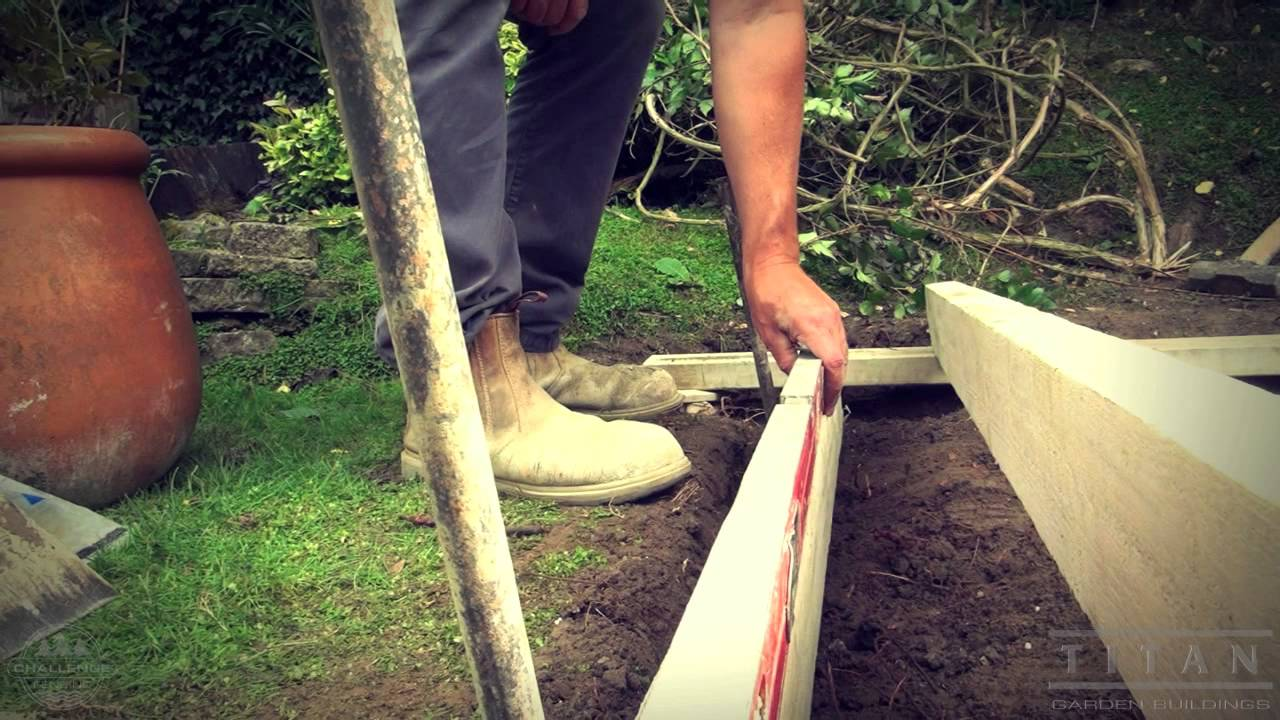 How To Lay A Base For A Garden Shed Or Log Cabin Youtube