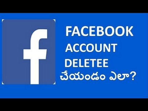 how to delete your facebook