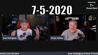 Jose Rodriguez Photo Printing Techie Sunday Live Stream 4pm Easter time USA 7-5-2020