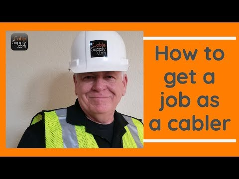 How to get a Computer Network Cabling Job  *** without Experience Part 1