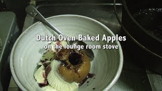 Baked Apple With Blueberries - Cooked On Heater, Dutch Oven