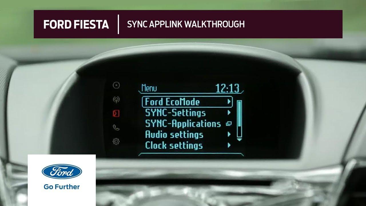 The 2014 Ford Fiesta Sync Applink Walkthrough Youtube