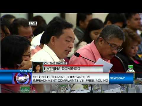 Solons Determine Substance In Impeachment Complaints Vs. Pres. Aquino