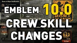 World of Tanks || Emblem Crew Skill Bonuses - 10.0 Rubicon Preview