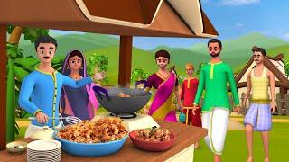 Pakodewala (Fritters Seller) Hindi Story - पकोड़े वाला हिन्दी कहानी | Cartoon for Kids Moral Stories