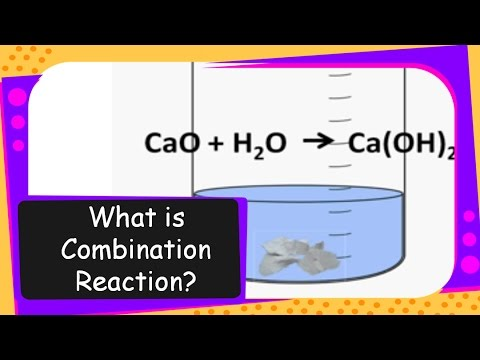 Science – What is Combination Reaction – Chemical Reaction Types Part 1 –  English
