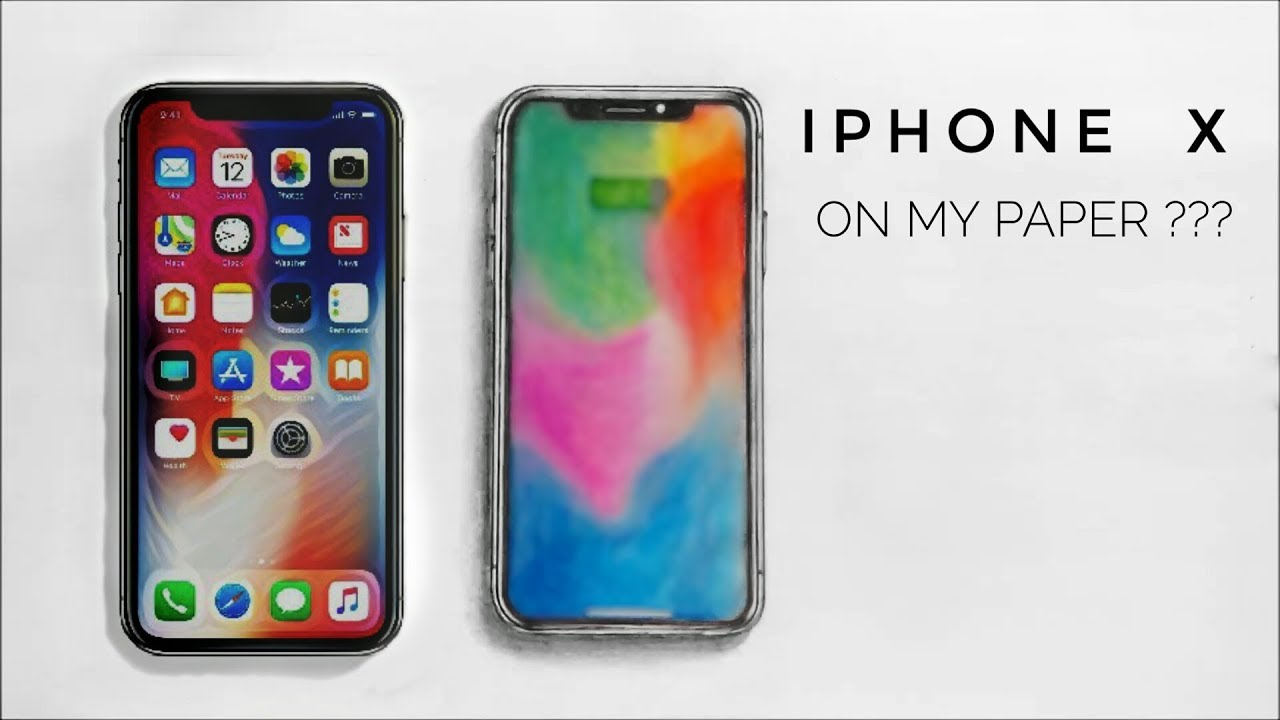 online retailer d4566 43875 How to Draw iPhone Xs On Paper | Pencil Drawing of iPhone Xs