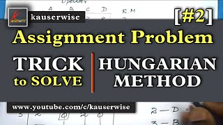 [#2]Assignment Problem||Hungarian Method[DIAGONAL RULE] When we Find More than one Zero thumbnail