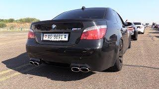 BMW M5 V10 w/ Eisenmann Race Exhaust - REVS & DRAG RACING