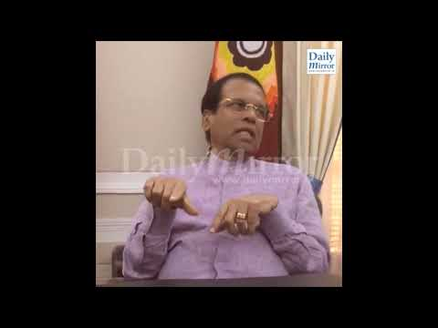 Ahead of the Supreme Court ruling, President Maithripala Sirisena, in an inte