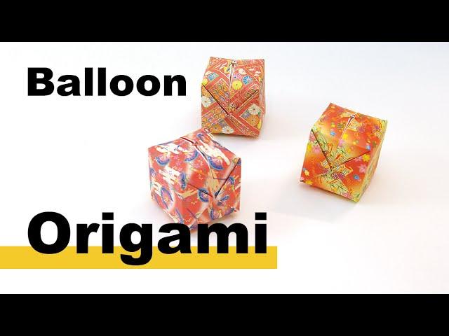 ハート 折り紙:紙風船 作り方 折り紙-youtube.com