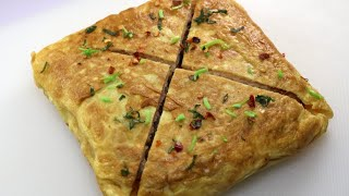 Quick And Easy Breakfast Recipe,Egg Wrapped Masala Toast By Recipes of the World