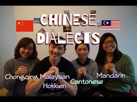 12 Words in Different Chinese Dialects & Languages