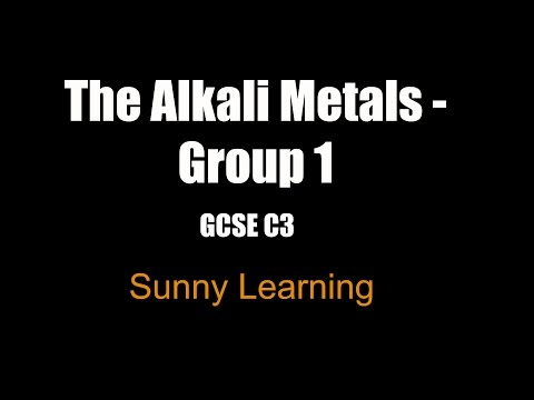 Group 1 Alkali Metals - GCSE Chemistry
