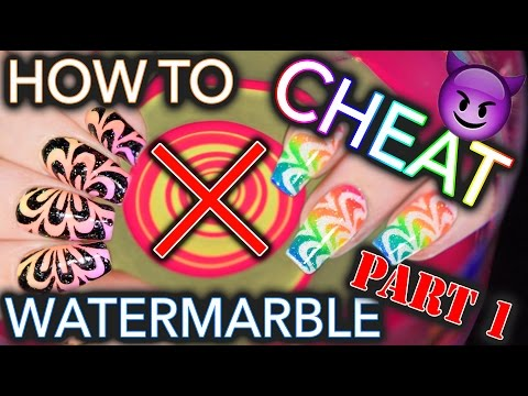 How to CHEAT at Watermarble nails - PART #1