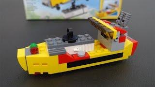 LEGO Creator Cargo Ship 31029 Stop Motion Build & Review | brickitect