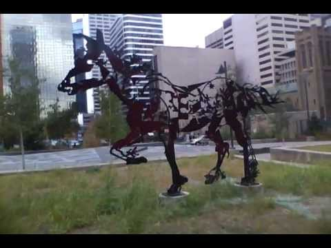 Calgary Art Display - Horses & Buffalo