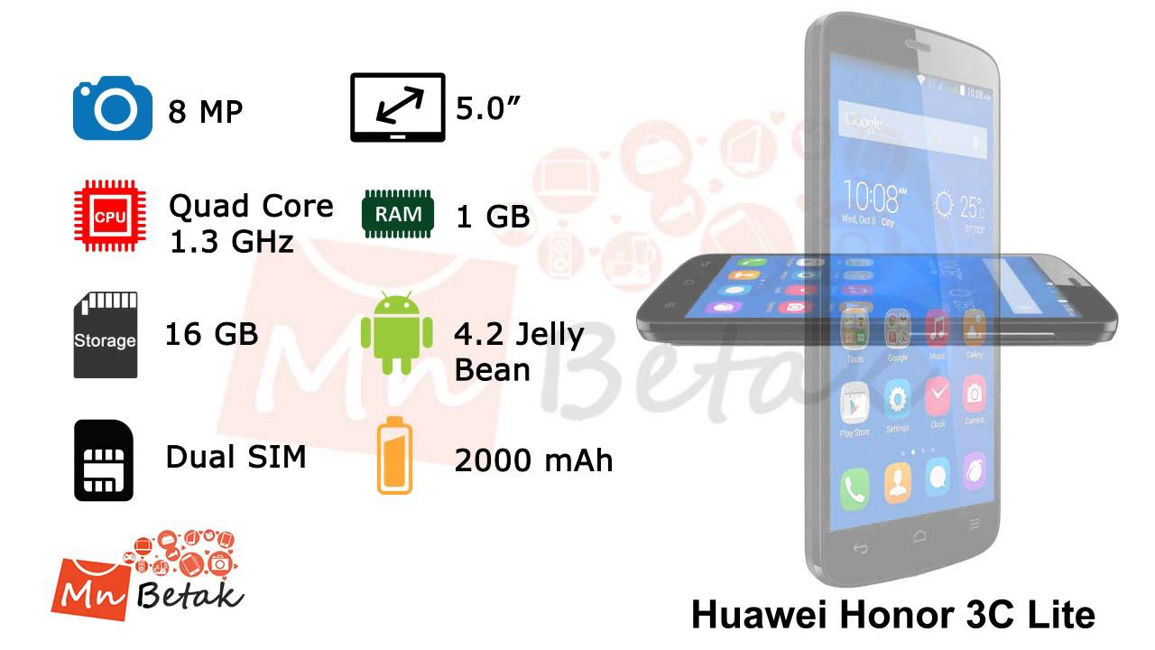 Huawei Honor 3C Lite Dual SIM - Official Video of MnBetak com