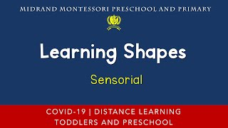 Montessori Sensorial Presentation - Matching Shapes Activity