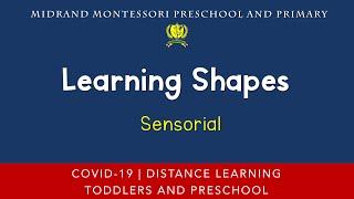 Montessori Sensorial Presentation - Matching Shapes Activity