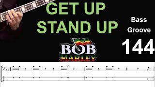 get-up-stand-up-bob-marley-how-to-play-bass-groove-cover-with-score-tab-lesson