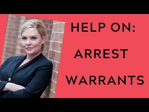 I Have An Arrest Warrant Or Bench Warrant.  What Do I Do?