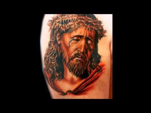 Tatuaje Espalda Cara De Cristo