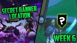 Season 6, Week 6 | *SECRET* 'Battle Star' Location (Secret Banner) - Fortnite