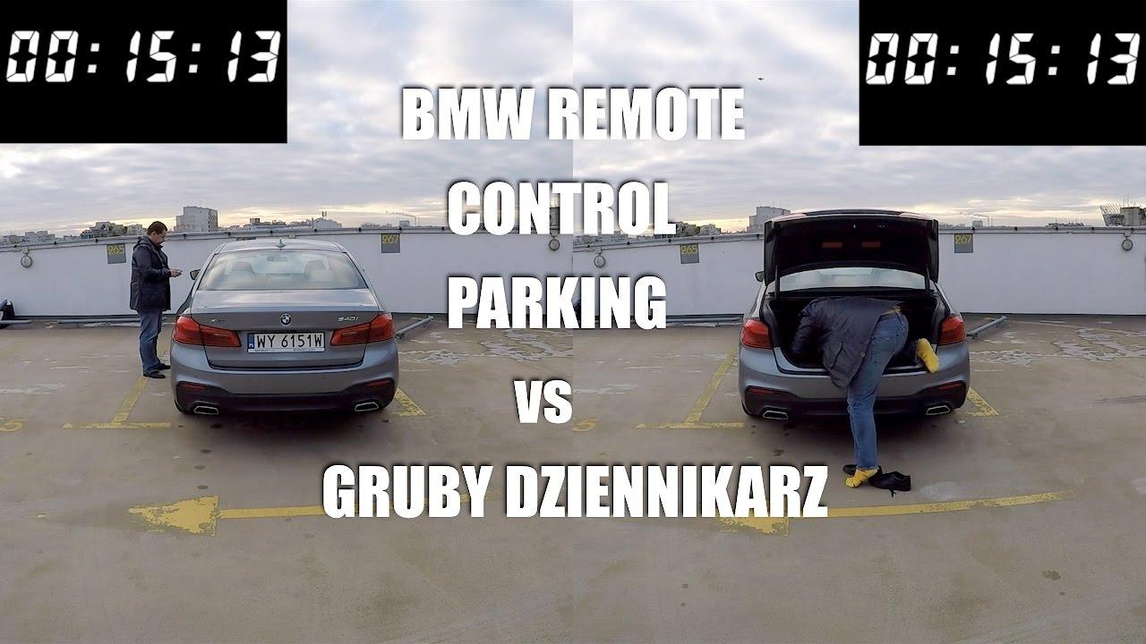 BMW Remote Control Parking kontra Gruby Dziennikarz
