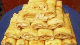 Медовые блинчики с творогом  Пошаговый рецепт с фото
