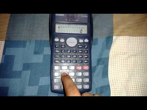 How to convert casio fx 82ms calculator into fx 570ms by hack.