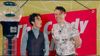 CAMERON BOYCE & THOMAS DOHERTY about FIRST KISS | Descendants 2