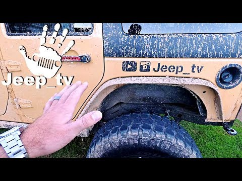 Clean your Stained Muddy Tires Back to NEW | Jeep Undercoat Off Road Test | Cleaning Comparison