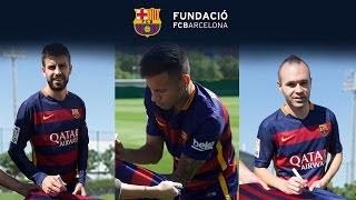 Aconsegueix la samarreta del FC Barcelona a favor dels refugiats