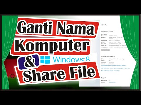 Cara Ubah Nama Komputer PC dan Sharing File Antar Komputer PC | Foci