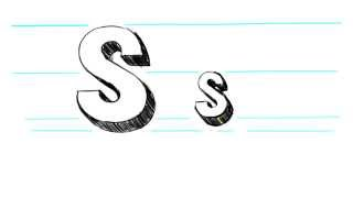 How to Draw 3D Letters S - Uppercase S and Lowercase s in 90 Seconds