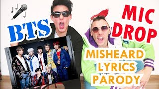 BTS (방탄소년단) - 'MIC Drop' MISHEARD LYRICS  (PARODY)