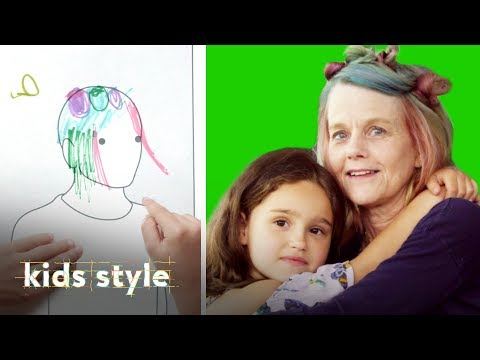 Girl Gives Her Grandma a Crazy Hairstyle | Kids Style | HiHo Kids thumbnail