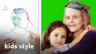 Girl Gives Her Grandma a Crazy Hairstyle | Kids Style | HiHo Kids