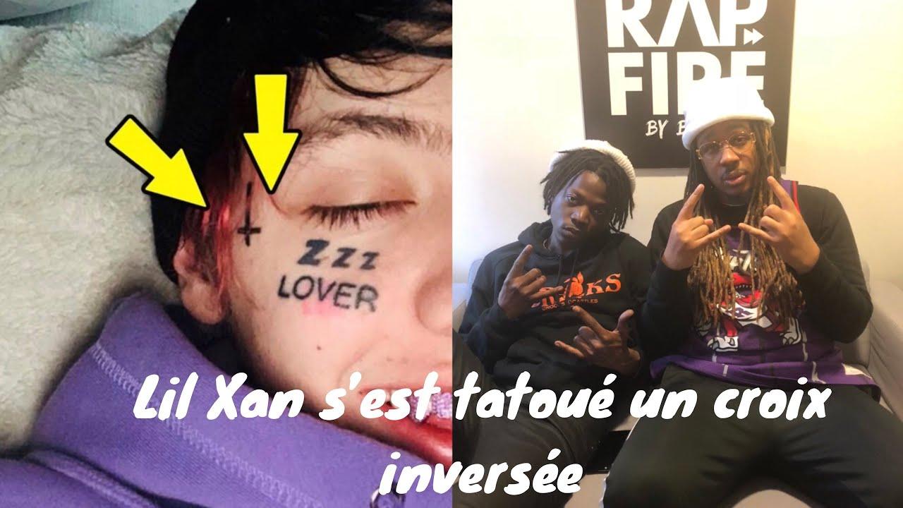 Lil Xan S Est Tatoue Une Croix Inversee Sur Le Visage Youtube