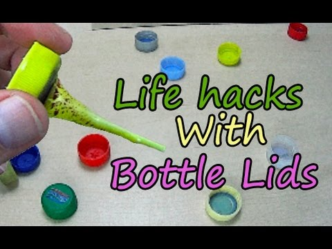10 plastic bottle lids life hacks diy how to reuse for How to use bottle caps