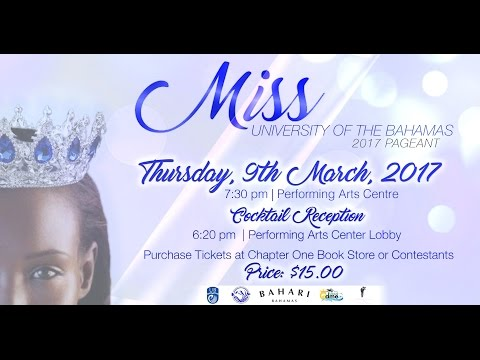 Miss University of The Bahamas 2017 Teaser Video