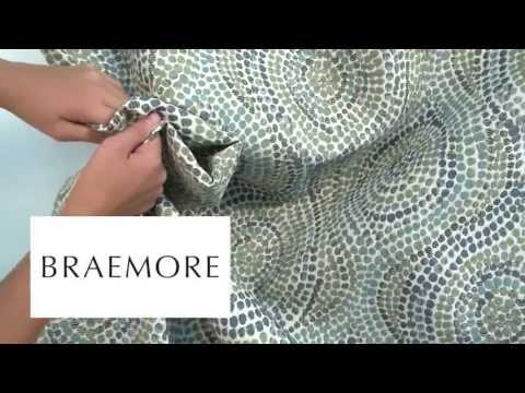 Video of Braemore Thumbprints Blue Moon Fabric #104089