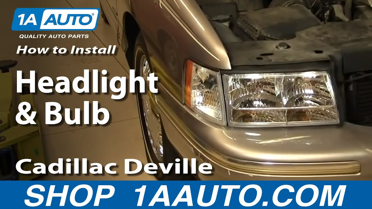 how to replace headlight and bulb 97 99 cadillac deville [ 1280 x 720 Pixel ]