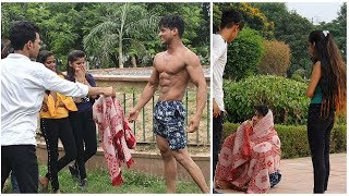 BEGGAR WITH 6 PACK ABS PRANK |FITMANJEET|