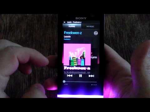Sony Xperia U music player preview equalizer LED