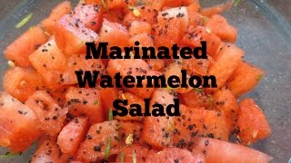 Marinated Watermelon Salad Recipe